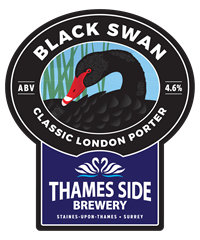BLACK SWAN PORTER   Classic London Porter with lots of brown, chocolate and crystal malts giving a wonderful rich roasted flavour, complemented with Fuggles and Golding hops from Kent. ABV 4.6%